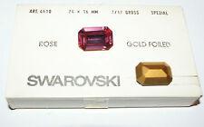 SWAROVSKI ® - 1 Pz  Cabochon Ottagonale #4610-24x16 mm Rosa Gold Foiled Vintage