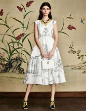 DOLCE & GABBANA Authentic $1895 Garden Sketch Dress - BNWT - Size 44- LAST ONE!