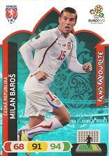 MILAN BARROS # FAN'S FAVOURITE 1/36 REP.CZECH CARD PANINI ADRENALYN EURO 2012