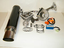 Scooter 150cc GY6Cylinder Kit 150cc Performance Exhaust Black CDI Cam Coil
