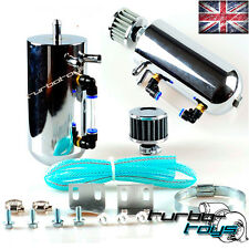 UNIVERSAL 0.5L POLISHED ALLOY OIL WATER CATCH BREATHER TANK RESEVOIR + FILTER