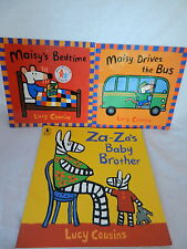 Lot of 3 Lucy Cousins;Maisy Drives the Bus,Maisy's Bedtime, Za-Za's Baby Brother