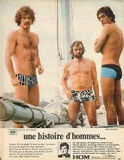 Publicité Advertising 1969  Lingerie HOM slip homme sous vetement