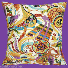 "NEW JAPANESE ORIENTAL PHOENIX TAIKO DRUM MUSICAL CREAM 16"" Pillow Cushion Cover"