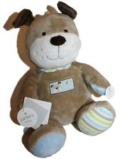 """NEW Baby Carter's Brown Plush Dog Singing Musical Animated Toy ABC s 9"""" tall"""