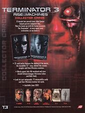 TERMINATOR 3 RISE OF THE MACHINES 2003 COMIC IMAGES PROMOTIONAL SALE SELL SHEET