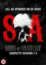 Sons Of Anarchy - Series 1-5 - Complete (DVD, 2013, 20-Disc Set, Box Set)