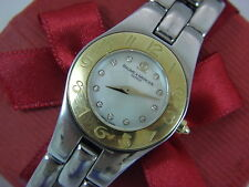 Baume & Mercier Linea ladys watch st,steel &gold 0.03tcw diamonds mother of pear