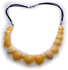 Halskette echter Bernstein aus der Ostsee Herz Collier Damen Qualität Herzen