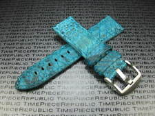 24mm Genuine PYTHON Skin Leather Strap Sky Blue Band Tang Buckle PANERAI PAM V