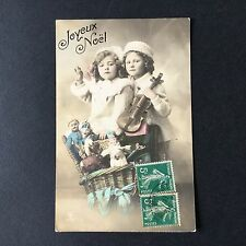 CPA NOEL Poupée Guignol Antique French Christmas Doll Postcard