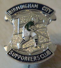 Birmingham city vintage supporters club badge broche pin chrome 15mm x 19mm