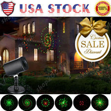 US Outdoor Moving Star LED Laser Light Projector Landscape Xmas Garden Lamp