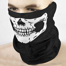 Newly Unisex Skull Face Tube Mask Neck Gaiter Dust Shield Seamless Bandana