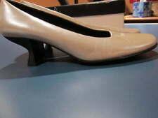 MODA SPANA WOMAN BEIGE METALLIC CLASSIC PUMP HEEL SHOE SZ 10 N 10 AA NARROW