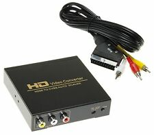 HDMI a CVBS Video Convertitore Scart Adattatore Rca Set Cavi Audio Video Spina
