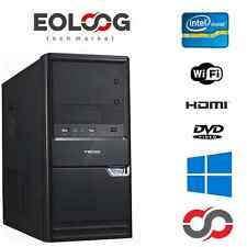 PC DESKTOP COMPUTER FISSO INTEL DUAL CORE  8 GB RAM HDMI WIFI WINDOWS ORIGINALE