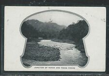 NORTH BORNEO (P2707B) JUNCTION OF RAYON AND PADAS RIVER PPC GREEN BACK