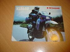 DEPLIANT Kawasaki KLR 650 de 1986