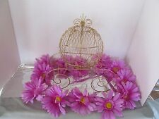 Gold Cinderella Carriage (Use for Wedding Centerpiece or Baby Decorations) - G