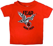 86050 Fear Red Baby Toddler T-Shirt More Beer Punk Rock Sourpuss Kids (12M)