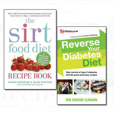 Reverse Your Diabetes Diet and Sirtfood Diet Recipe 2 Books Collection Set NEW