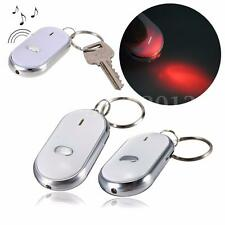 2x Llavero con Luz Alarma Silbato Busca Llaves Casa Coche Key Finder LED Light