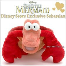 NEW Disney Store SEBASTIAN From The Little Mermaid Plush Soft Toy NEW WITH TAGS