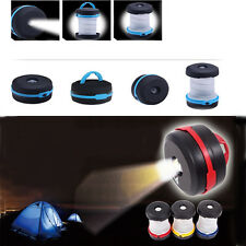 Pop Up Retractable Mini Camping Lantern Lights headlamp Tent Hiking Flashlight