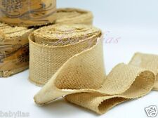 "2.5"" Wide Natural Burlap Fabric Jute Rustic Wedding Vintage Roll 10 Yard Length"