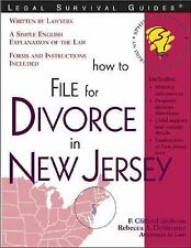 How to File for Divorce in New Jersey (Legal Survival Guides)-ExLibrary