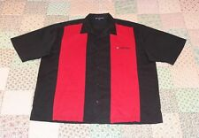 PORT AUTHORITY Black & Red Vintage Look Bowling Shirt Sz XL.