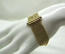 Hermosa Elegante Pulsera de Cadena de oro 9ct Multi