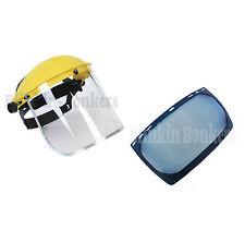 Transparente y visera de malla Flip Up Careta Máscara de Protección Ocular Trabajos De Seguridad Guard 24