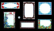 Quilt Labels flowers on Black carnations & Iris fabric 30 x 56cm card making