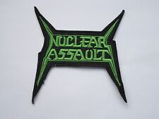 NUCLEAR ASSAULT LOGO EMBROIDERED PATCH