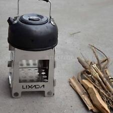 LIXADA Outdoor Lightweight Portable Camping Picnic Alcohol Wood Stove AF N6C9