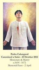 Pedro Calungsod Canonization CARD (wallet size)