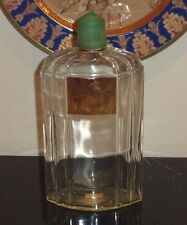 """ACQUA DI COTY CAPSULA VERDE HUGE AND RARE PERFUME BOTTLE 9.5"""" TALL BY 5"""" WIDE"""