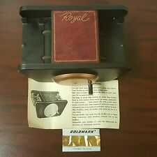 Vintage DIY Royal Card Shuffler w/Box Metal Hand Crank Spades Poker Casino