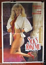 SEKS LOKUMU {KATERINA JUSTICE} Turkish Original Movie Poster 70s