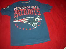 New England Patriots RETRO STRESS DESIGN Adult Small T-Shirt,GREAT & CHEAP GIFT