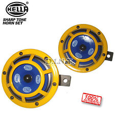 Genuine Hella Super Tone 12Volt Yellow Dual Panther Horn Car SUV Boat Truck Ra