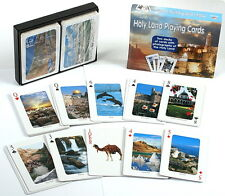 Israel Holy Land Playing Cards 2 Deck Set Colorful Scenes Bible Religious Sites