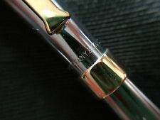 Tiffany & Co. Ruthenium Plated 0.7mm Pencil with Gold Plated T Clip Made in USA