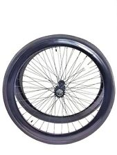 700c Wheelset - 43mm RIMS+TIRES+TUBES Fixie Freewheel Single Speed - Gloss Black
