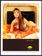 2005 Actress Jane Seymour on Bed photo Mandarin Oriental Hotel promo print ad