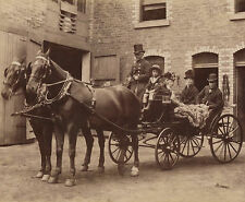 CABINET CARD: Fine Victorian Photograph of HORSE & CARRIAGE Transport, BRECHIN