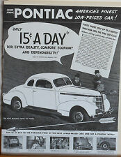 Vintage 1937 magazine ad for Pontiac - Short Step up to Pontiac & Fine Car Class