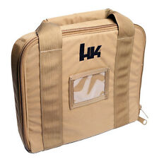 H&K  Brown Tan Soft TACTICAL PISTOL CASE Heckler & Koch- HK45-P30-USP-P2000